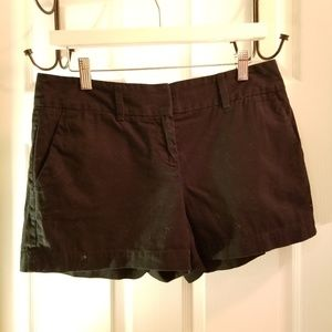Ann Taylor Sz 4 Black Cotton Shorts